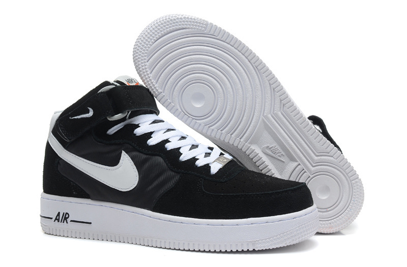 Nike Air Force 1 High Black White Canvas Sneaker